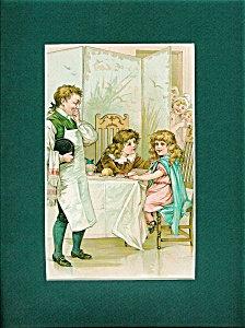Children Prints: Boy & Girl At Formal Dinner: Romantic