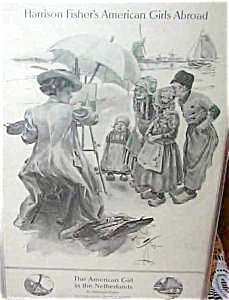Dutch Children Painting Artsist Beach Harrison Fisher Print