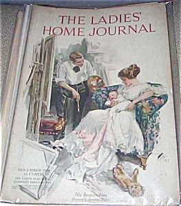 Vintage Harrison Fisher Print New Mother Baby Ladies Home Journal
