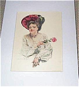 "Hc Christy Print ""the Teasing Girl"" 1905"