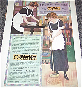 Antique Ad O-cedar Polish Vintage Illustration