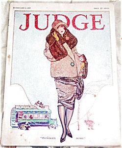 Judge Magazine Cover Art Ladies Winter Fashion