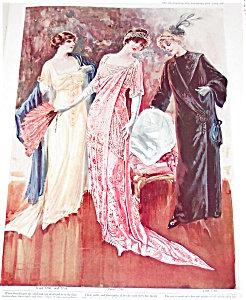 Antique & Vintage Prints Fashion Ads Feather Hats Fur Gowns Fan
