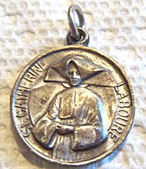 Antique Medal St. Catherine Laboure Anne Virgin Mary Religious