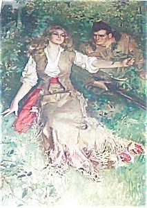 Howard Chandler Christy Print: Lithograph: Pioneer Girl Romance