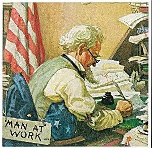 Vintage Political Prints: Uncle Sam: Man At Work