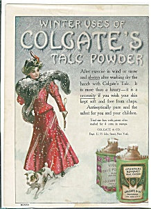 Vintage Print Vanity Bedroom Bathroom Victoriantalc Powder Ad