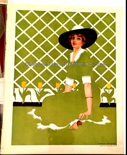Vintage Art Deco Fadeaway Print Coles Phillips Tulip Garden