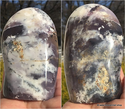 Rare Merlinite Purple Dendritic Opal Agate Standing Crystal Contact Spirits