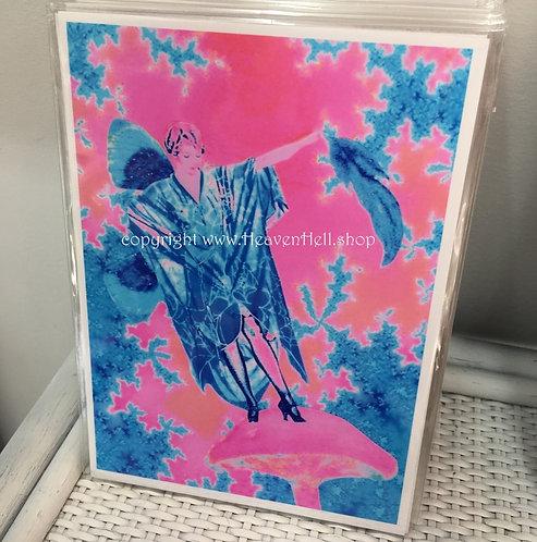 Balance 5x7 Fairy Art Print- Boho Chic, Spiritual Artwork