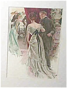 Elegant Victorian Party Scene- Harrison Fisher Print 1909