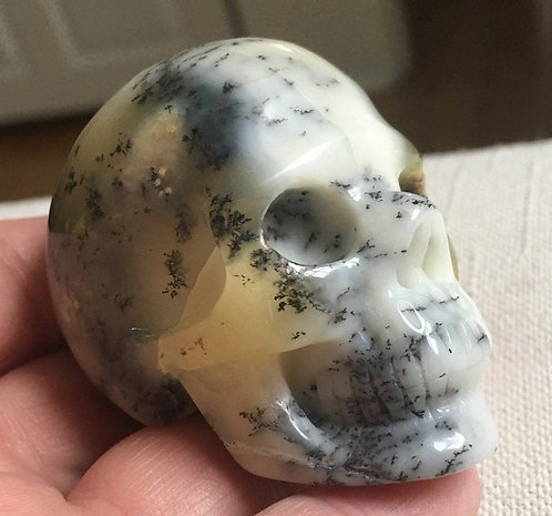 Rare Activated Dendritic Opal Agate Crystal Skull - Powerful Magick, Luck