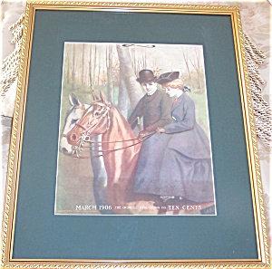 Vintage & Antique Victorian Equestrian Prints: Magazine Cover Art