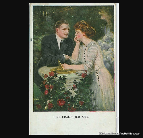 Early 1900's German Artist Signed Romance Postcard Clarence Underwood, Germany