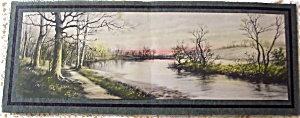 Original Vintage Zula Kenyon Print Springtime Lake Landscape