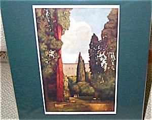 Vintage Art Maxfield Parrish Antique Print-garden