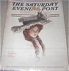 Vintage Saturday Evening Post Magazine Harrison Fisher Cover 1909