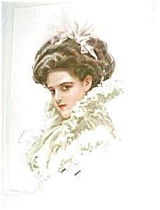 Art Victorian Lady- Harrison Fisher-1909