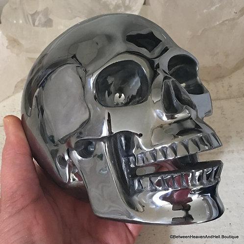 "5.2"" Rare Large TeraHertz Singing Skull Life Force Energy Negative Ions"