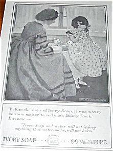 Jessie Willcox Smith Ivory Soap Ad 1914 Little Girl Illustration