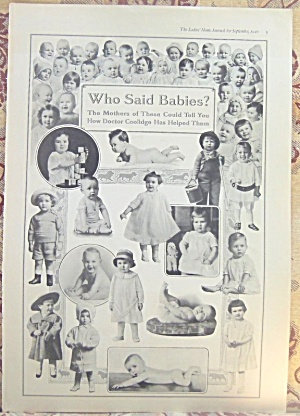 Vintage 1916 Baby Ad Real Photo Babies Toddlers Period Clothing