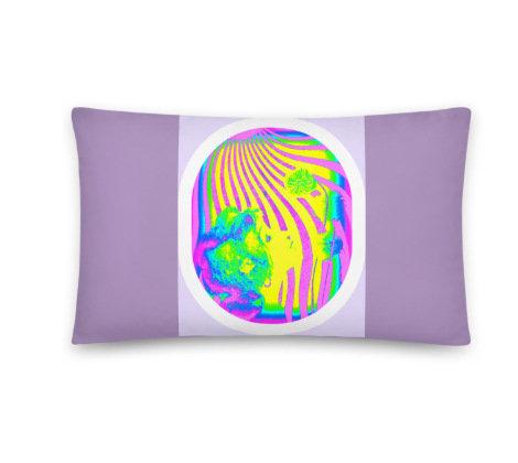 12x20 Lavender Purple Throw Pillow Psychedelic Teen tween BOHO Home Decor