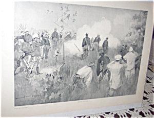 Antique War Prints Howard Chandler Christy Grimes Battery
