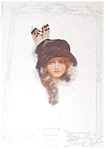 Harrison Fisher Print-the School Girl 1913