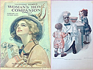 Vintage Woman's Home Companion Harrison Fisher Cover Art