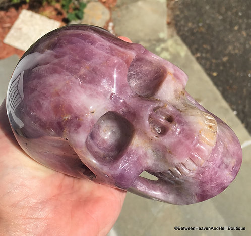 2.6LB Activated Large PINK AMETHYST Skull Life Path Intuition Psychic Ability