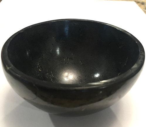 "Metaphysical Crystals: 3.25"" Black Tourmaline Gemstone Bowl, Good Luck, Magick"