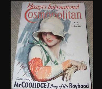 1929 Vintage Cosmopolitan Magazine Harrison Fisher Cover Art Deco Lady, Ads