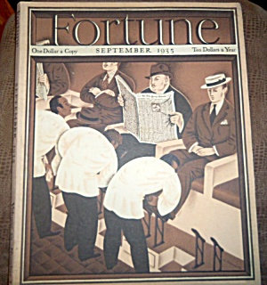Vintage Fortune Magazine Septembr 1935 Petruccelli Cover, Back Issues