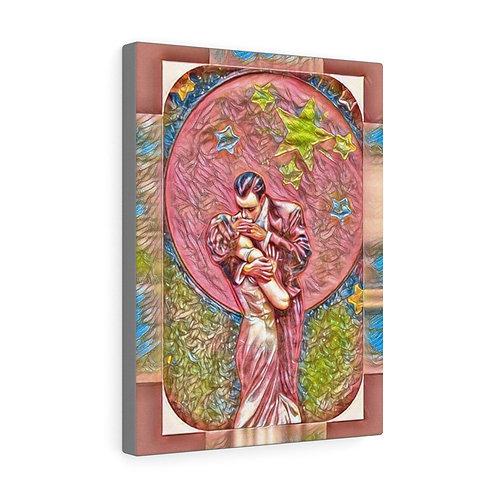 Sexy Full Moon Starlight Romance Art Print Canvas Gallery Wrap Wall Decor