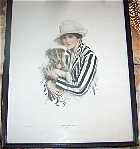 Antique Harrison Fisher Cosmopolitan Print Jack Russell Terrier Dog