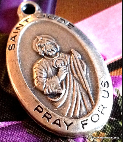 Vintage Saint Jude Holy Medal Patron Of Hopeless Causes,Those in Desperate Need