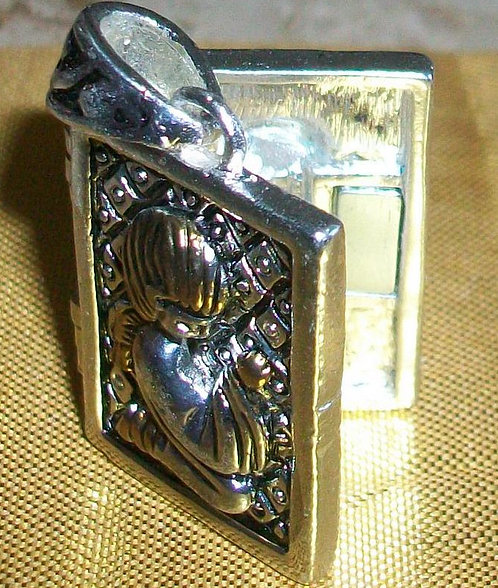 Angel Locket Pendant God Box Prayer Box Wish Box Angelic Energy Jewelry