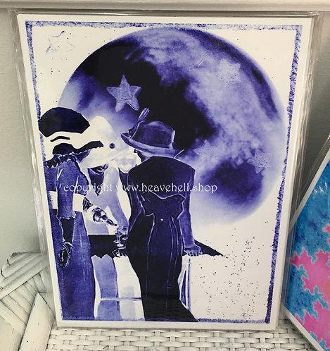 Midnight Cocktails Moonlight Martini's Full Moon Maidens Altered Art Print 5x7