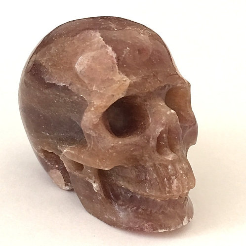 Activated Pink Red Muscovite Crystal Skull - Loving Energy from Heaven