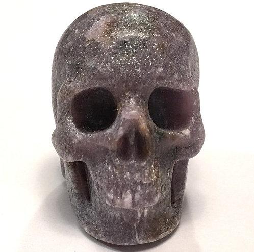 Activated Lepidolite Crystal Skull Angelic & Spirit Guide Communication