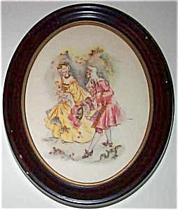 Colonial Romance Print: Courting Scene