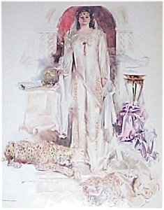 Howard Chandler Christy Print: Lady And Leopard 1911 Funky Bride