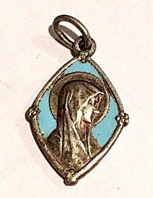 Antique Religious Medal Our Lady Of Lourdes St. Bernadette
