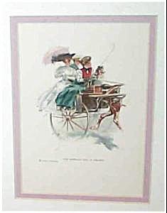 Vintage Harrison Fisher Print American Girl In Ireland