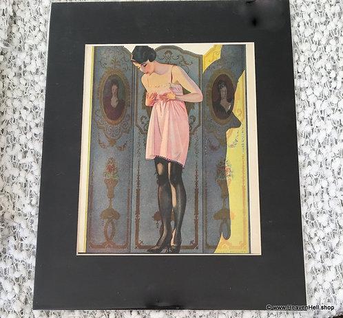 Antique & Vintage Fashion Ad Coles Phillips Print Luxite Hosiery illustration
