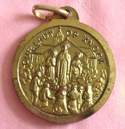 Vintage Our Lady Of Knock Ireland Holy Medal Joannes Paulus