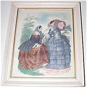 Vintage Victorian Print Spring Summer Fashion Garden Parasol