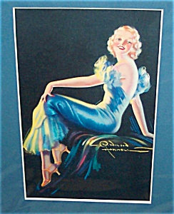 Hammell Pin-up Lady Glamour Calendar Art Print