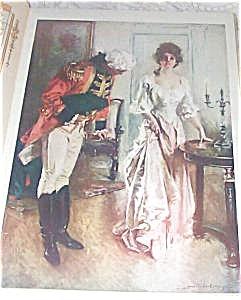Howard Chandler Christy Print: Revolutionary Girl; Colonial