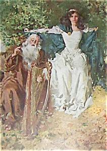 Hc Christy Art Print-maiden And Prophet